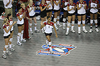 14 December 2006: Stanford Cardinal Janet Okogbaa during Stanford's 30-12, 30-25, 30-15 win against the Washington Huskies in the 2006 NCAA Division I Women's Volleyball Final Four semifinal match at the Qwest Center in Omaha, NE.