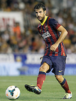 FC Barcelona's Cesc Fabregas during La Liga match.September 1,2013. (ALTERPHOTOS/Acero) <br /> Football Calcio 2013/2014<br /> La Liga Spagna<br /> Foto Alterphotos / Insidefoto <br /> ITALY ONLY