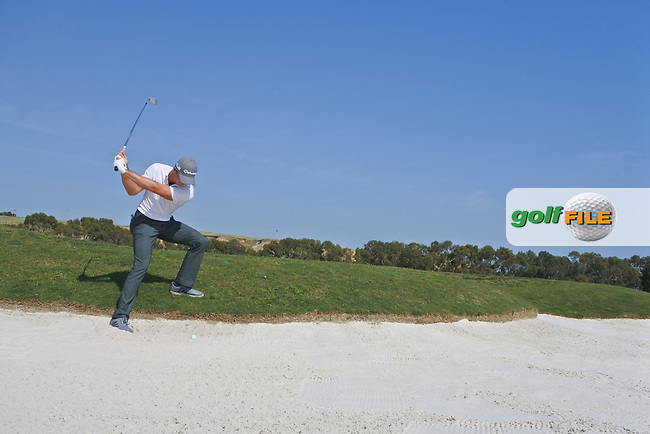 Laurie Canter (RSA) on the 2nd during the 1st round the The Rocco Forte Open, Verdura Golf &amp; Spa Resort, Agrigento, Sicily, Italy. 18/05/2017.<br /> Picture: Golffile | Fran Caffrey<br /> <br /> <br /> All photo usage must carry mandatory copyright credit (&copy; Golffile | Fran Caffrey)