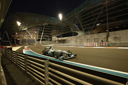 11.11.2011 Abu Dhabi, United Arab Emirates.  Grand Prix of Abu Dhabi 08 Nico Rosberg ger, during the practice session at the FIA Abu Dhabi Grand Prix in the UAE.