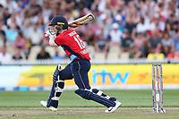 England's Eoin Morgan batting. New Zealand Blackcaps v England. Tri-Series International Twenty20 cricket. Seddon Park, Hamilton, New Zealand on Sunday 18 February 2018.<br /> <br /> Copyright photo: &copy; Bruce Lim / www.photosport.nz