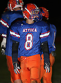 Attica Blue Devils varsity football against the Pembroke Dragons during week seven of the Genesee Region League season at Attica High School on October 16, 2009 in Attica, New York.  Attica defeated Pembroke 44-7.  (Copyright Mike Janes Photography)