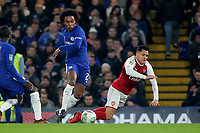 Willian of Chelsea fouls Arsenal's Alexis Sanchez during Chelsea vs Arsenal, Caraboa Cup Football at Stamford Bridge on 10th January 2018