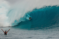CLOUDBREAK, Tavarua/Fiji (Friday, June 8, 2012) Reef MacIntosh (HAW). -  The best day of paddle surfing ever seen at Cloudbreak happen today with the swell in the12'-15' range from the south.  The surf pumped all day with amazing performances from of the world best big wave paddle in surfers. The Volcom Fiji Pro completed the last two heats of Round Two with Bede Durbidge and Kai Otten advancing before being call off for the day. Photo: joliphotos.com