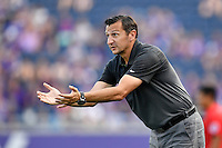 Orlando, FL - Saturday Sept. 24, 2016: Vlatko Andonovski during a regular season National Women's Soccer League (NWSL) match between the Orlando Pride and FC Kansas City at Camping World Stadium.
