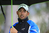 Pablo Larrazabal (ESP) walks off the 10th tee during a wet Saturday's Round 3 of the 2017 Omega European Masters held at Golf Club Crans-Sur-Sierre, Crans Montana, Switzerland. 9th September 2017.<br /> Picture: Eoin Clarke | Golffile<br /> <br /> <br /> All photos usage must carry mandatory copyright credit (&copy; Golffile | Eoin Clarke)