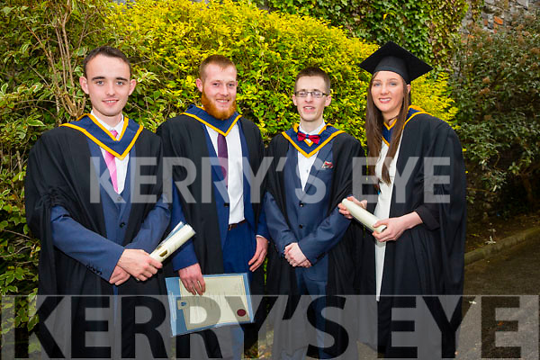 At the ITT Conferring Ceremony in the Brandon Hotel on Friday were BSC (Honours) in Wildlife Biology, l-r  James Campion, Jer Moore, Tadhg Gennery and Denise Lyne