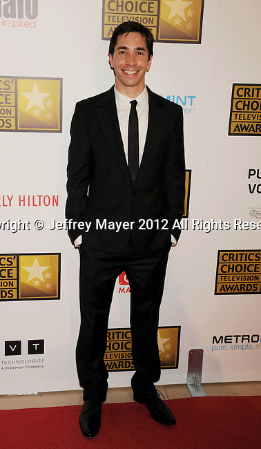 BEVERLY HILLS, CA - JUNE 18: Justin Long arrives at The Critics' Choice Television Awards at The Beverly Hilton Hotel on June 18, 2012 in Beverly Hills, California.