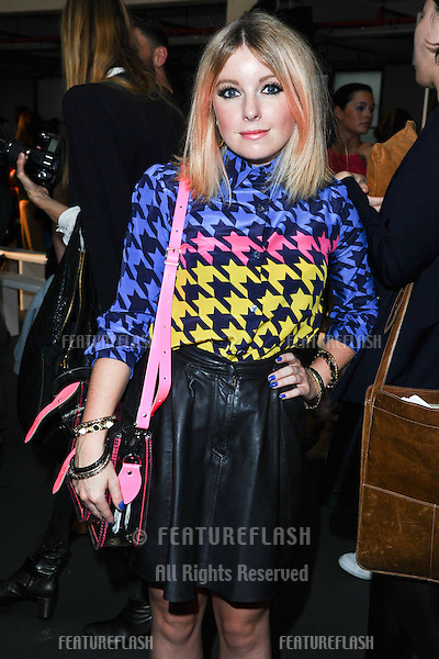 Victoria Hesketh (Little Boots) at the House of Holland catwalk show as part of London Fashion Week SS13, London. 15/09/2012 Picture by: Steve Vas / Featureflash