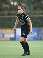 20181006 - DIKSMUIDE , BELGIUM : KRC Genk's Nathalie Weytjens  pictured during a soccer match between the women teams of Famkes Westhoek Diksmuide Merkem and KRC GENK B  , during the 3th matchday in the 2018-2019  Eerste klasse - First Division season, Saturday 6 October 2018 . PHOTO SPORTPIX.BE | DIRK VUYLSTEKE