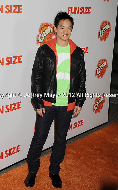 HOLLYWOOD, CA - OCTOBER 25: Osric Chau arrives at the Los Angeles premiere of 'Fun Size' at Paramount Studios on October 25, 2012 in Hollywood, California.