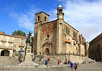 Historic medieval town of Trujillo, Caceres province, Extremadura, Spain Iglesia of San Martin and Pizarro statue