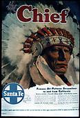 Santa Fe Railroad Chief Poster.<br /> AT&amp;SF
