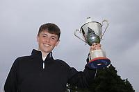 Morgan O'Sullivan (Ballyneety) winner of the Ulster U/16 Open Championship at Carnalea Golf Club, Bangor, Antrim, Northern Ireland. 07/08/2019.<br /> Picture Fran Caffrey / Golffile.ie<br /> <br /> All photo usage must carry mandatory copyright credit (© Golffile | Fran Caffrey)