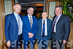 The officers of the Kerry Supporters Club at their Social in the Ballygarry House Hotel on Saturday night. L to r: John King, Martin Leane, Donie O'Leary and John O'Connell.