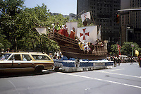 Independence Day parade in Lower Manhattan in New York on July 4, 1982. (© Frances M. Roberts)