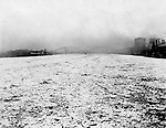 Pittsburgh PA: Lookng up the Allegheny River towards the 6th Street Bridge during the flood of 1904.  The old 6th Street bridge in the background.