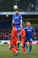 Anthony Wordsworth of AFC Wimbledon heads the ball during AFC Wimbledon vs Millwall, Emirates FA Cup Football at the Cherry Red Records Stadium on 16th February 2019