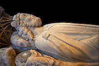 The tomb of Wessex King Aethelstan, 927-939, in the  church of St Peter & St Paul part of Malmesbury Abbey, Wiltshire, England