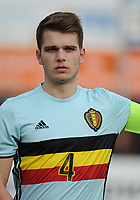 20170314 - UDEN , NETHERLANDS : Belgian Jerko Guldix pictured during the UEFA Under 17 Elite round game between The Netherlands U17 and Belgium U17, on the first matchday in group 5 of the Uefa Under 17 elite round in The Netherlands , tuesday 14 th March 2017 . PHOTO SPORTPIX.BE | DIRK VUYLSTEKE