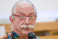"Dr Hunter Campbell ""Patch"" Adams attends a seminar at the University of Rome on May 3, 2010,"