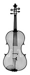 X-ray image of a violin (black on white) by Jim Wehtje, specialist in x-ray art and design images.