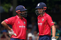 Alastair Cook (R) and Varun Chopra of Essex during Essex Eagles vs Notts Outlaws, Royal London One-Day Cup Semi-Final Cricket at The Cloudfm County Ground on 16th June 2017
