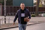 12.03.2020, wohninvest Weserstadion, Bremen, GER, Medienrunde Werder Bremen Theodor Gebre Selassie <br /> <br /> Ludwig Augustinsson (Werder Bremen #05) kommt in Zivil zum Training<br /> <br /> im Bild / picture shows <br /> <br /> <br /> <br /> <br /> Foto © nordphoto / Kokenge