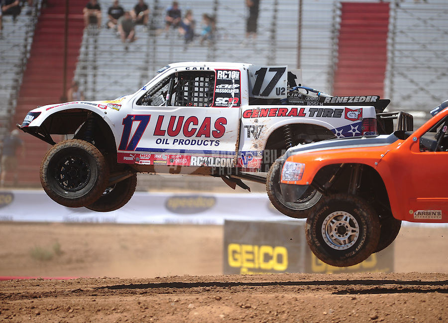 Apr 15, 2011; Surprise, AZ USA; LOORRS driver Carl Renezeder (17) during round 3 and 4 at Speedworld Off Road Park. Mandatory Credit: Mark J. Rebilas-.