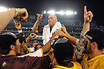 29 MAY 2011:  Salisbury University celebrates their victory against Tufts University during the Division III Men's Lacrosse Championship held at M+T Bank Stadium in Baltimore, MD.  Salisbury defeated Tufts 19-7 for the national title. Larry French/NCAA Photos