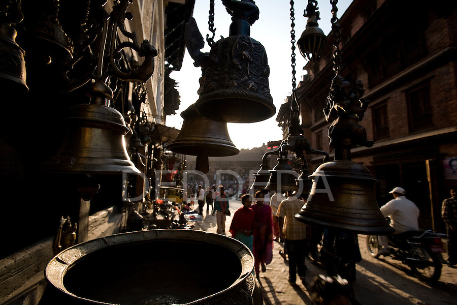 Ancient city of Bhaktapur Durbar Square, Nepal, an UNESCO World Heritage Site.
