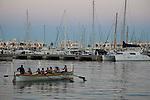 Women Rowing in the Port in Alicante, Spain