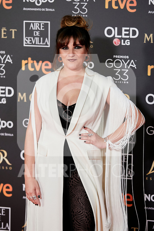 Rozalen attends to 33rd Goya Awards at Fibes - Conference and Exhibition  in Seville, Spain. February 02, 2019. (ALTERPHOTOS/A. Perez Meca)