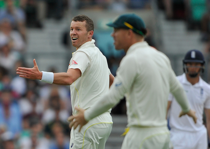 Australia's Peter Siddle appeals for a dismissal<br /> <br /> Photographer Ashley Western/CameraSport<br /> <br /> International Cricket - Investec Ashes Test Series 2015 - Fifth Test - England v Australia - Day 4 - Sunday 23rd August 2015 - Kennington Oval - London<br /> <br /> &copy; CameraSport - 43 Linden Ave. Countesthorpe. Leicester. England. LE8 5PG - Tel: +44 (0) 116 277 4147 - admin@camerasport.com - www.camerasport.com