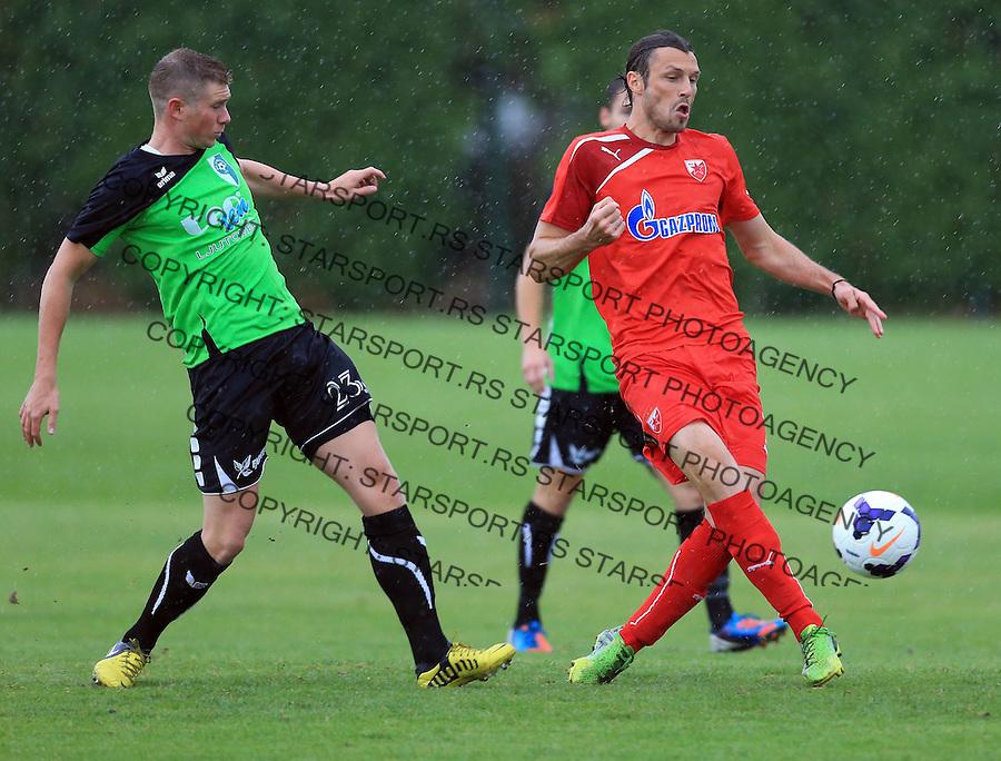 Fudbal season 2013-2014<br /> FK Crvena Zvezda pripreme<br /> Prijateljski mec<br /> Crvena Zvezda v Verzej<br /> Djordje Rakic (R)<br /> Brezice, 07.09.2014.<br /> foto: Srdjan Stevanovic/Starsportphoto &copy;