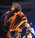 Tim Commerford & Zack de la Rocha of Rage Against The Machine performs live at their 1st L.A. concert in nearly 10 years to a sold out crowd, the concert is a benefit to help Arizona Organizations fight SB1070 . The show was held at The Hollywood Palladium in Hollywood, California on July 23,2010                                                                   Copyright 2010  DVS / RockinExposures
