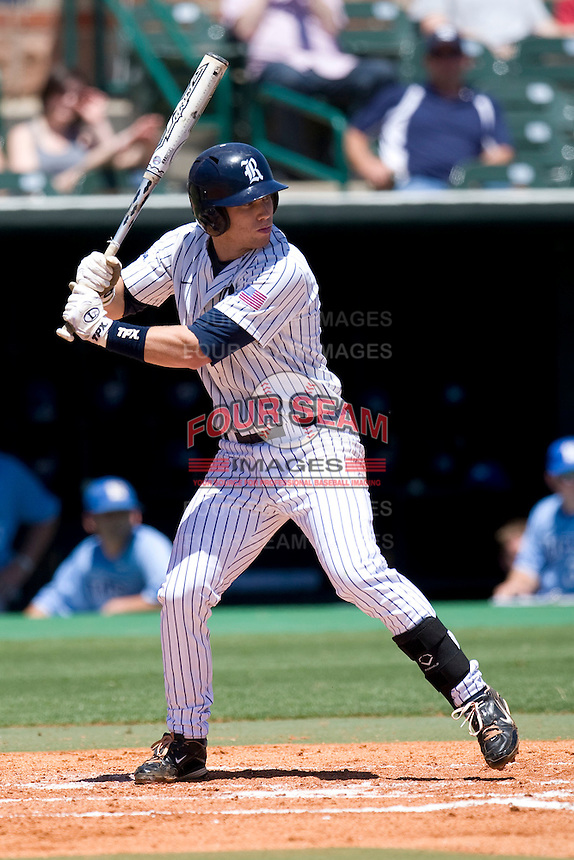 Rice Owls second baseman Michael Ratterree #8 at bat against the Memphis TIgers in NCAA Conference USA baseball on May 14, 2011 at Reckling Park in Houston, Texas. (Photo by Andrew Woolley / Four Seam Images)