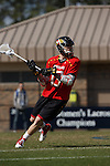 2013 March 02: Owen Blye #13 of the Maryland Terrapins during a game against the Duke Blue Devils at Koskinen Stadium in Durham, NC.  Maryland won 16-7.