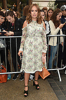 Tanya Burr<br /> arrives for the TopShop UNIQUE catwalk show as part of London Fashion Week SS17, Old Spitalfields Market, London<br /> <br /> <br /> &copy;Ash Knotek  D3155  17/09/2016