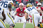 Wisconsin Badgers linebacker Ryan Connelly (43) during an NCAA College Big Ten Conference football game against the Michigan Wolverines Saturday, November 18, 2017, in Madison, Wis. The Badgers won 24-10. (Photo by David Stluka)