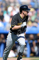 Infielder Clint Barmes (12) of the Pittsburgh Pirates during a spring training game against the Toronto Blue Jays on February 28, 2014 at Florida Auto Exchange Stadium in Dunedin, Florida.  Toronto defeated Pittsburgh 4-2.  (Mike Janes/Four Seam Images)