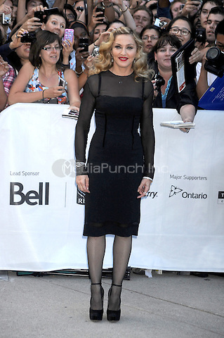 Madonna at the 'W.E' film Premiere at Roy Thomson Hall during the 2011 Toronto International Film Festival on September 12, 2011 in Toronto, Canada © mpi01 / MediaPunch Inc.
