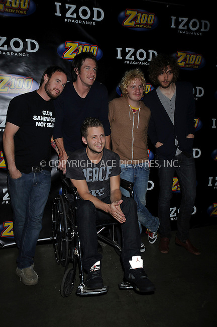 WWW.ACEPIXS.COM . . . . .....May 17, 2008. East Rutherford, NJ....Singers One Republic pose at the Z100 Zootopia press room held at the Izod Center...  ....Please byline: Kristin Callahan - ACEPIXS.COM..... *** ***..Ace Pictures, Inc:  ..Philip Vaughan (646) 769 0430..e-mail: info@acepixs.com..web: http://www.acepixs.com
