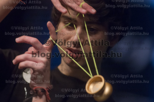 Gökten Uzuner of Turkey competes during the Yoyo European Championships in Budapest, Hungary on February 24, 2013. ATTILA VOLGYI