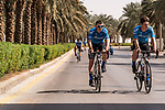 Team Gazprom-RusVelo before the start of Stage 5 of the Saudi Tour 2020 running 144km from Princess Nourah University to Al Masmak, Saudi Arabia. 8th February 2020. <br /> Picture: ASO/Kåre Dehlie Thorstad   Cyclefile<br /> All photos usage must carry mandatory copyright credit (© Cyclefile   ASO/Kåre Dehlie Thorstad)