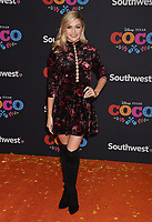 LOS ANGELES, CA - NOVEMBER 08: Dancer Lindsay Arnold arrives at the premiere of Disney Pixar's 'Coco' at El Capitan Theatre on November 8, 2017 in Los Angeles, California.<br /> CAP/ROT/TM<br /> &copy;TM/ROT/Capital Pictures