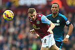 Tom Cleverley of Aston Villa and Didier Drogba of Chelsea - Aston Villa vs. Chelsea - Barclay's Premier League - Villa Park - Birmingham - 07/02/2015 Pic Philip Oldham/Sportimage