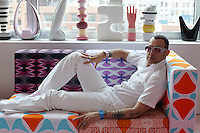 Karim Rashid in his New York apartment