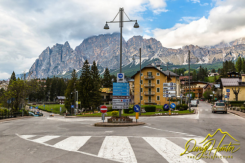 A roundabout in Corina Italy