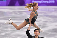 14th February 2018, Pyeongchang, South Korea; 2018 Winter Olympic Games, Day 5;  Ekaterina Alexandrovskaya and Harley Windsor from Australia in action during the figure skating pairs short program of the 2018 Winter Olympics in the Gangneung Ice Arena in Gangneung, South Korea, 14 February 2018.